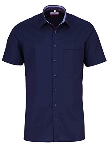 Marvelis Modern Fit Hemd Halbarm New Kent Kragen Nachtblau Größe 40 -