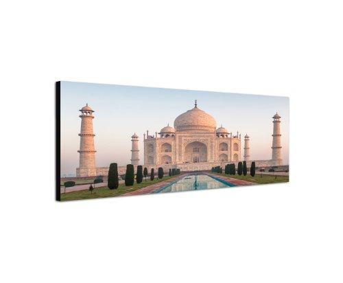 taj-mahal-indien-150x50cm-panorama-wandbild-auf-leinwand-und-keilrahmen-fertig-zum-aufhangen-unsere-
