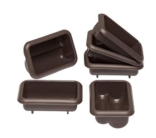 Lurch FlexiForm Mini Stollen Silikonbackformen, 6er Set, Silikon, Braun, 9.1 x 5.6 x 3.9 cm