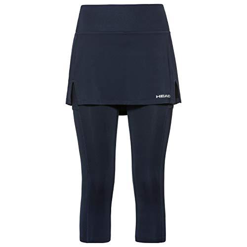 HEAD Damen Club 3/4 Tights Skort W Skirts, darkblue, M
