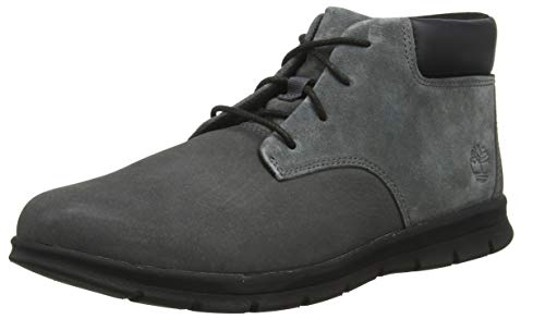 Timberland Graydon Leather Chukka, Bottes Homme, Gris (Medium Grey Nubuck), 41.5 EU