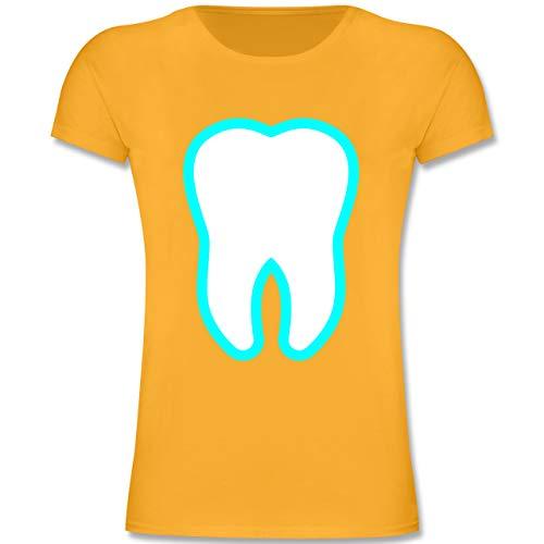 Fee Zahn Kostüm Accessoires - Karneval & Fasching Kinder - Farbiger Zahn - Zahnfee Kostüm - 116 (5-6 Jahre) - Gelb - F131K - Mädchen Kinder T-Shirt