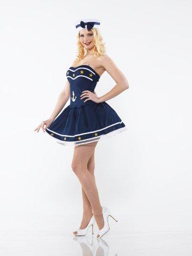 Kostüm SEXY SAILOR STERNE Gr. 34-38 (Spandex Sterne)