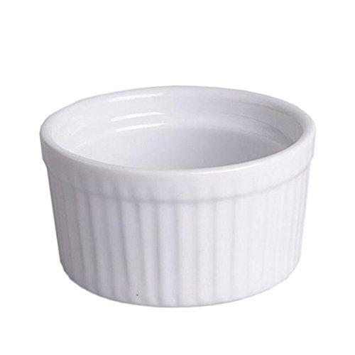 Creme Brulee Schale Ragoutfin Würzfleisch Ofenschale Ofenform Pastetenförmchen, glatt, Porzellan, Ø ca. 8.5 x H 4.5 cm, ca. 175 ml, weiß, spülmaschinengeeignet, 1 Stück