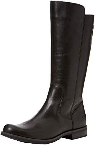 Timberland Damen Magby Tall Stiefel, Schwarz (Black Full Grain), 41 EU
