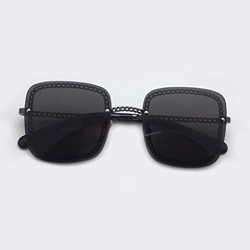 LKVNHP Fashion Square Sonnenbrille Frauen Brille Hochwertige Sonnenbrille Damen Legierung Rahmen KetteSonnenbrilleVintage EyewearNo1 Sonnenbrille