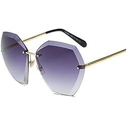 OverDose Unisex-Sommer-Weinlese-Retro- quadratische Steigungs-Farben-Gläser Art- und Weiseflieger-Spiegel-Objektiv-Reise-Sonnenbrille (G)