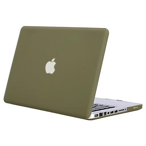 MOSISO Hülle Kompatibel MacBook Pro 13 mit CD-ROM Drive - Ultradünne Plastik Hartschale Hülle Kompatibel Old MacBook Pro 13 Zoll (A1278, Version Early 2012/2011/2010/2009/2008), Capulet Olive