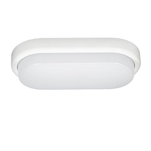 J&C® Plafoniere LED da Soffitto 12W Lampada a LED ip54 per Bagno e Cucina Luce Bianco Natura 4000-4500K 850lm AC100-240V