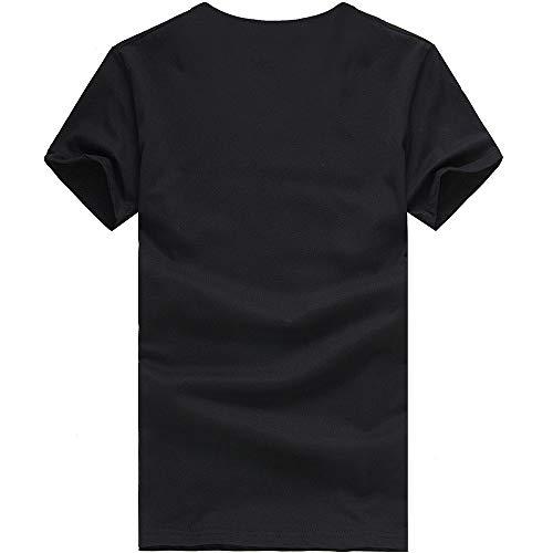 Imagen para Oliviavan Camiseta para Hombre, Camiseta De Manga Corta Horizontal Camiseta de Rayas Cuello Redondo Moda Casual para Hombre Camisas