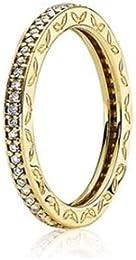 anello pandora corona dorato
