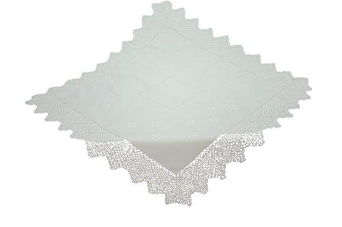 Bellanda 18XL724-85x85 eckig Tischdecke, Baumwolle, Weiß, 85 x 85 x 0.50 cm