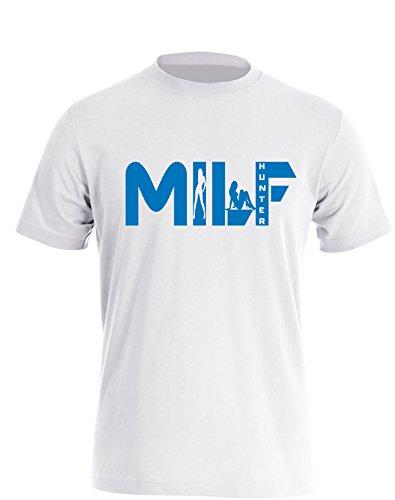 Milf Hunter - Herren TShirt Weiß / Blau