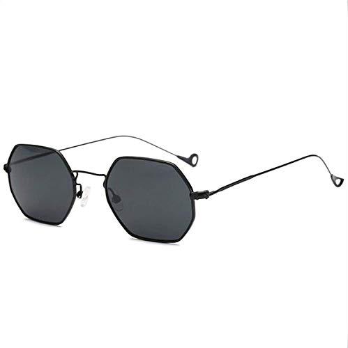 WERERT Sportbrille Sonnenbrillen Retro Sunglasses Women Small Frame Polygon Clear Lens Sunglasses Men Vintage Sun Glasses Hexagon Metal Frame - Versace Red Lens