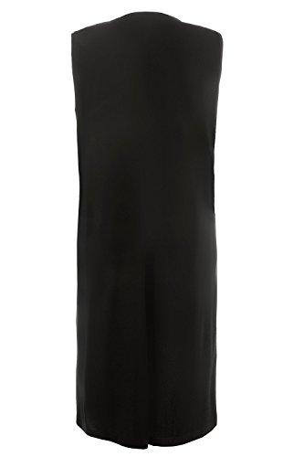 Ulla Popken Femme Grandes tailles Veste d'intérieur sans manches 707329 Noir