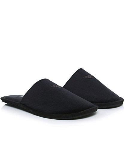 Emporio Armani Homme Logo chaussons, Noir Noir