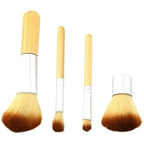 Grandey 4pcs earth-friendly manico di bambù Set
