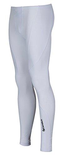 Candish Drx0l Leggings a compressione, da uomo, per ciclisti bianco