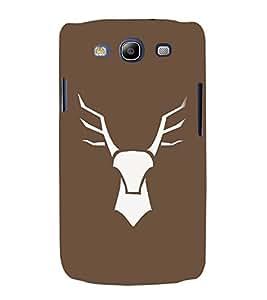 FUSON Deer Head Vector Illustration 3D Hard Polycarbonate Designer Back Case Cover for Samsung Galaxy S3 I9300 :: Samsung I9305 Galaxy S Iii :: Samsung Galaxy S Iii Lte