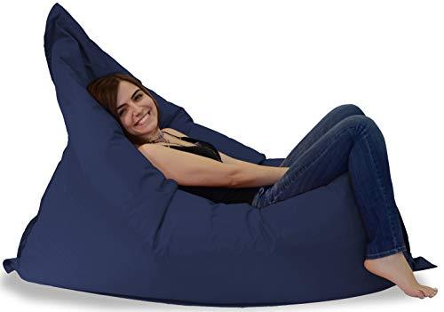 MINDERIM Pigro Indoor & Outdoor Sitzsack XXL 400L Riesensitzsack Sitzkissen Sessel für Kinder & Erwachsene (Marineblau)