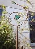 Garten Dekoration,Edelrost Gartenstecker a.Eisen& Glas,Glasdeko Metall