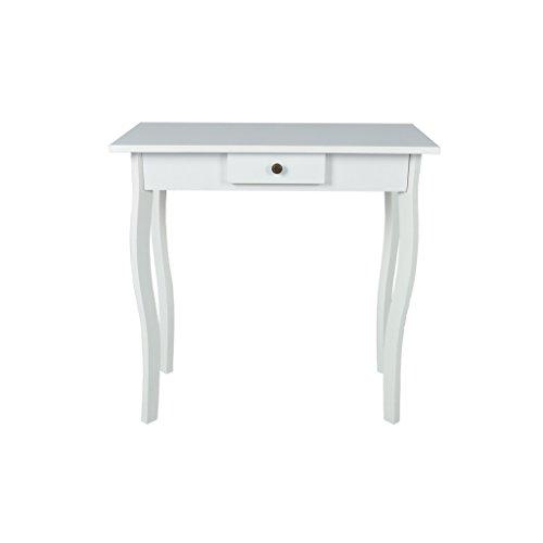 Festnight tavolo consolle moderno tavolini per ingresso legno mdf bianco