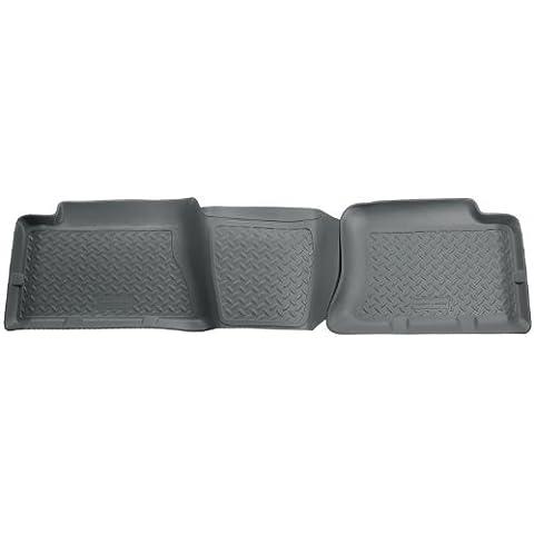 Husky per immondizia Custom Fit per secondo seggiolino, colore: nero, per selezionare Chevrolet Silverado/Sierra modelli GMC per Husky (grigio)