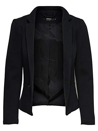 ONLY NOS Damen Anzugjacke onlSTORY Maddy Mel Zip Blazer NOOS TLR, Schwarz (Black Detail:Solid), 38