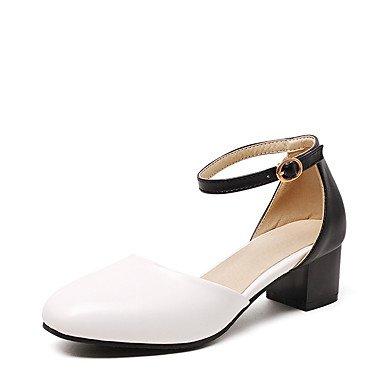 delle donne sandali estivi D & # 039; Orsay & amp;Due pezzi in similpelle partito & amp nozze;Abito da sera tacco grosso con fibbia Hollo US9 / EU40 / UK7 / CN41