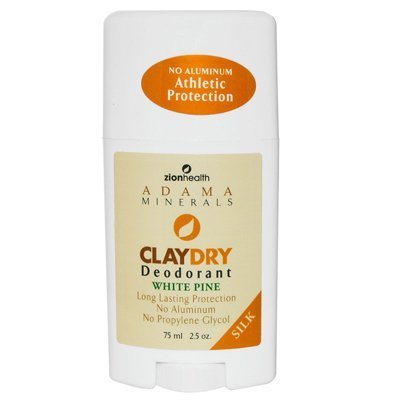 Clay Dry Solid Silk White Pine Deodorant Zion Health 2.5 oz Stick by Zion Health [Beauty] (English Manual)