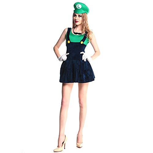 Lady Halloween Super Mary Kostüm Cosplay Bühnenkostüm,M