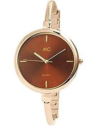 MC Timetrend Germany - Reloj de Pulsera analógico para Mujer, Color marrón ...