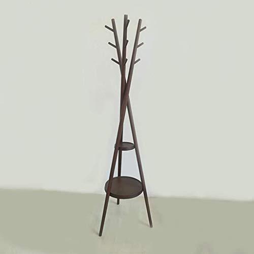 Hall Tree Set (Kleiderständer Lagerregal Kleiderständer, bodenstehender Hut mit 9 Haken und Kleiderständer Eingangsbereich Display Hall Tree 495 * 495 * 1780MM (l * W * H))