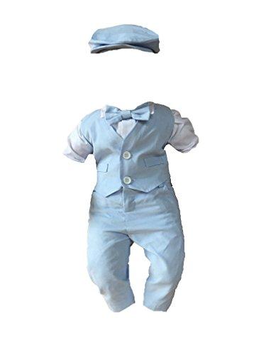 Soffi Kids Sommer Taufanzug Festanzug Hochzeit Anzug Ver Farben (74, Blau)