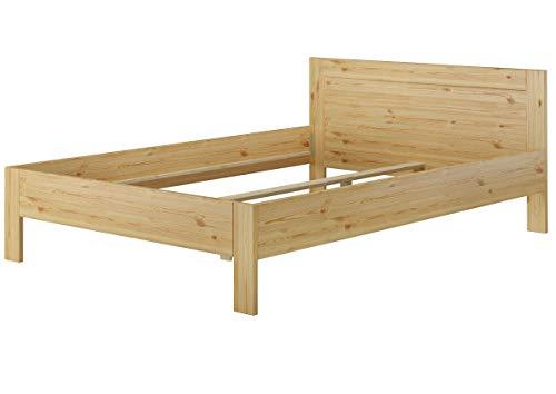 Erst-Holz® Doppelbett Französisches Bett 140x200 Massivholz Kiefer Bettgestell ohne Zubehör 60.68-14 oR