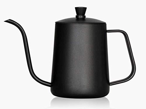 DWLXSH Edelstahl Kaffeekanne, Haushalt Tropfkaffeekanne Schwanenhalskessel - 600ml Tropfkaffeekanne für Küche, Büro, Cafe Wasserkocher Kaffee Tee gießen