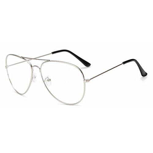 Mädchen Junge Aviator Brille - Clear Lens Glasses Frame Geek / Nerd Brillen mit Car Shape Gläser Fall - hibote