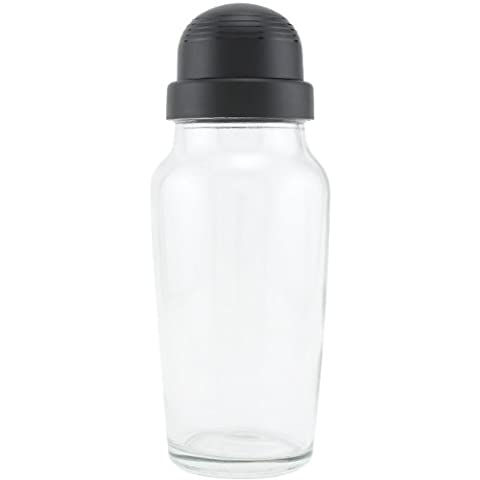 Libbey Glass Cocktail Shaker with Black Lid - 580ml