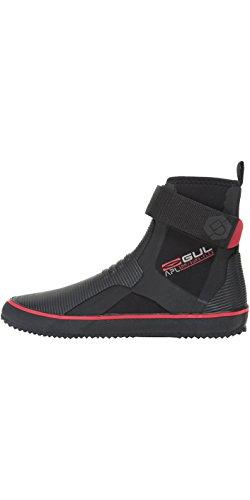 GUL Allzweck-5mm-Neoprenanzug-Stiefel aus Wildleder-Stiefel Boot Black RED - EIN Perfekter Allrounder für Jollen - Easy Stretch