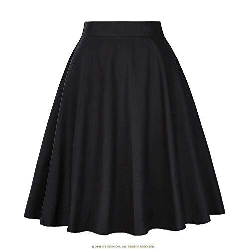 HEHEAB Rock,Schwarzer Baumwolle Röcke Der Frauen Faldas Pattern Print Plus Size Rock Sommer Kurzer Rock Tutu Jupe Femme, XL -