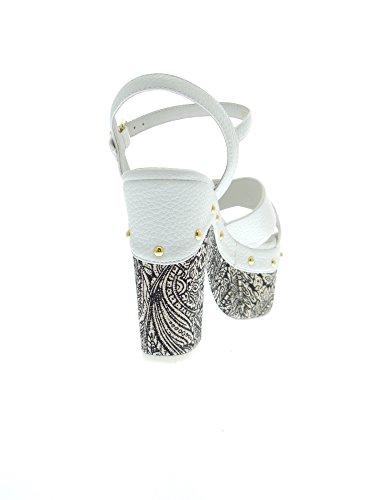 Luciano Barachini 6023 Sandale Femme B - Blanc