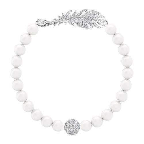 Imagen de swarovski pulsera nice pearl, baño de rodio, cristal blanco, para mujer