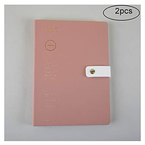 LKIHAH Hardcover Notizbuch,18K-Notizbuch Weiche Holzmaserung 112 Blatt Office Notepad, Geeignet Zum Verschenken Und Zum Persönlichen Gebrauch(2pcs),Red