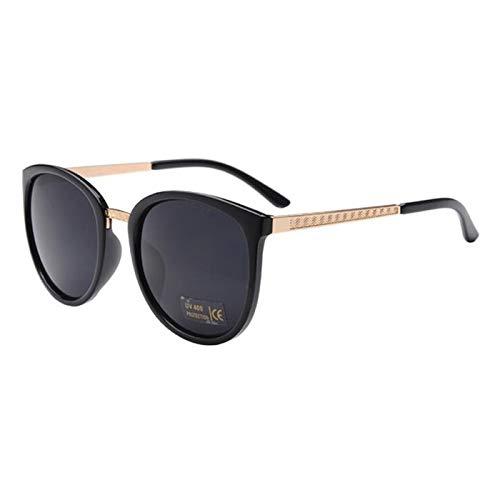 Daawqee Oversized Round Sunglasses Women Designer Luxury Fashion Eyeglasses Big Shades Sun Glasses Retro Zonnebril Dames BLACK GAY