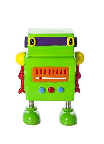 Hucha para niños con forma de robot verde