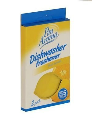 2 Stück Zitrone (Pan Aroma Spülmaschine Lufterfrischer, Zitrone, 2 Stück, Haushalts)
