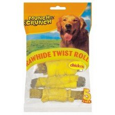 10 Raw Hide Twist Rolls/2 packs of 5 Chicken Flavour