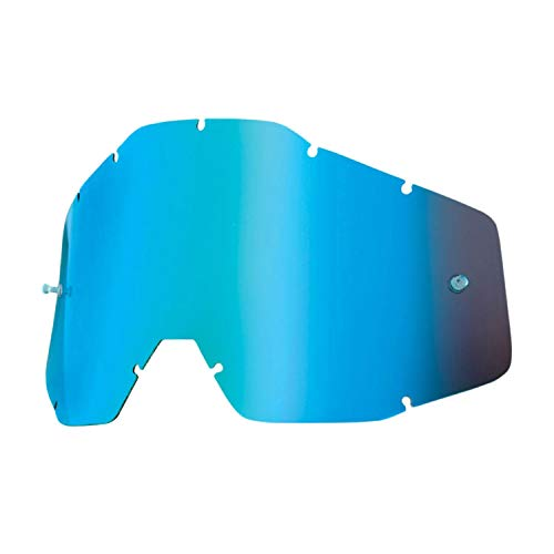 100% Accuri Racecraft/Accuri/Strata Ecran pour Masque Miroir Bleu/Bleu Anti-Buée