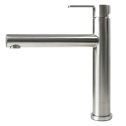 Spültischarmatur Wasserhahn Küche Spültisch Armatur Mizzo Design Stori - 100{1b547b6b58f5cb8d6934fa3da6c8f87e7973446d73f78ed0194e63d854a668f0} Edelstahl Mischbatterie - matt gebürstet - Küchenarmaturen Waschtischarmatur Einhebelmischer