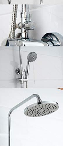 LHW Shower Set Che Set, Bad, Dusche, Bad, Dusche, Voll Kupfer, Wasserhahn, Rund, Outdoor, Top Spray, Dusche Set